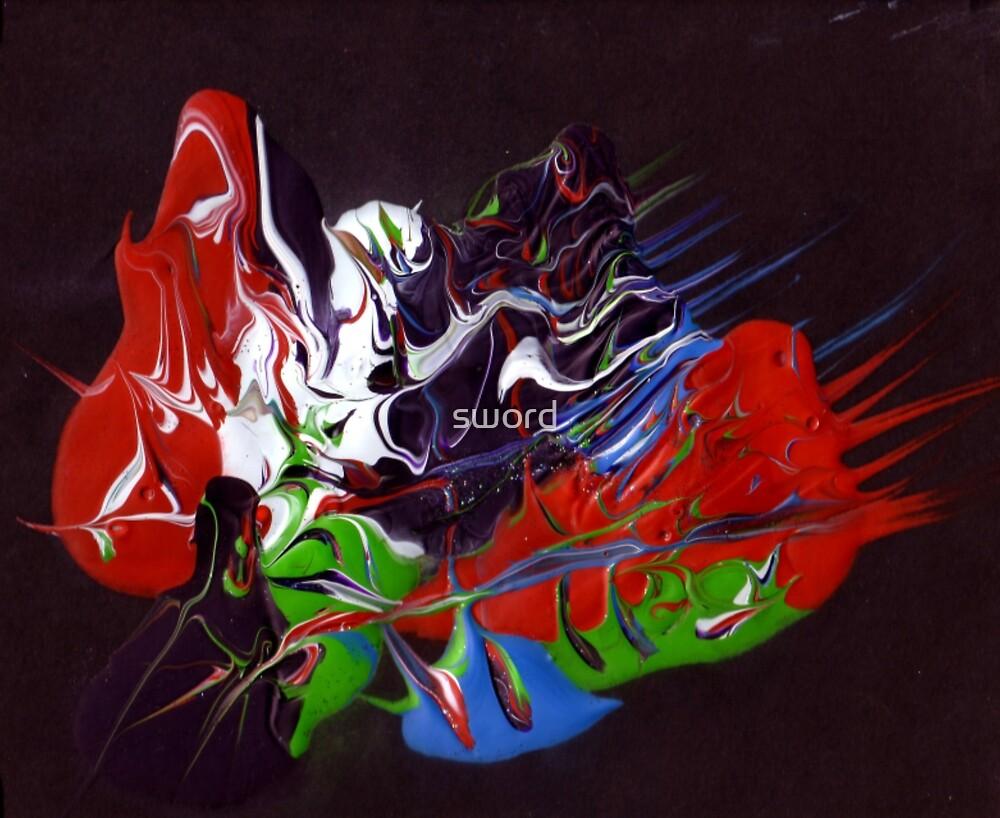 Heavy acrylic abstract (Eternity) by sword