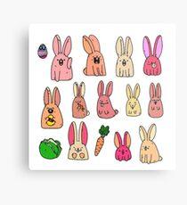Easter bunnies Metal Print