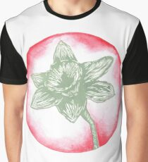 Daffodil Birth Flower - March - Teal Graphic T-Shirt