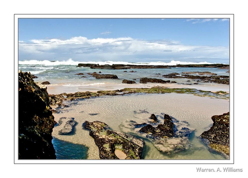 Rocks, Water & Surf by Warren. A. Williams