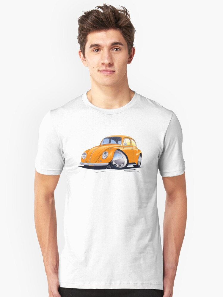 VW Beetle Orange by Richard Yeomans