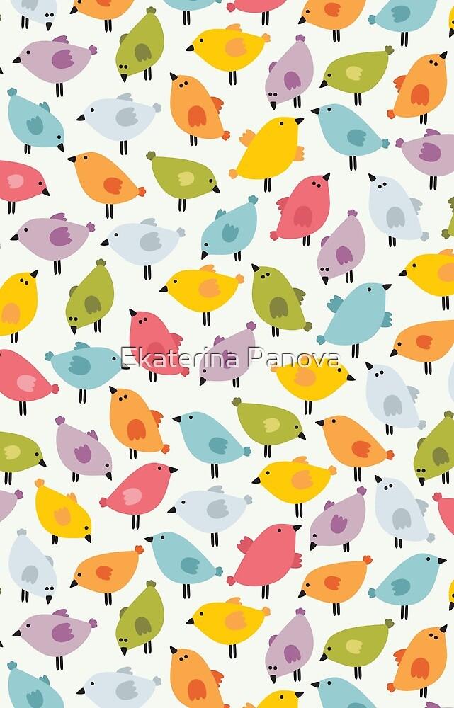 Cute birds by Ekaterina Panova