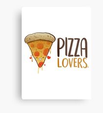 PIZZA LOVERS Metal Print