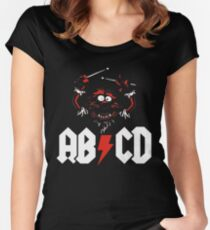 Animal Drummer - ACDC Women's Fitted Scoop T-Shirt