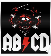 Animal Drummer - ACDC Poster