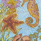 Beautiful seahorse seascape by Lynn Excell
