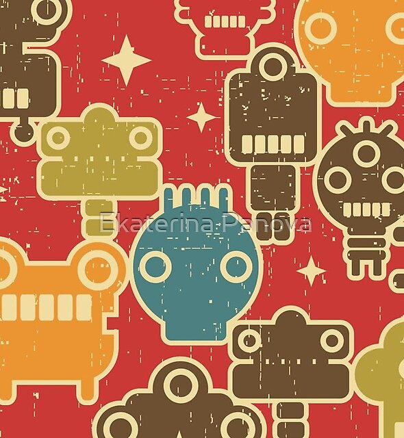 Robots on red by Ekaterina Panova