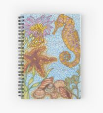 Beautiful seahorse seascape Spiral Notebook