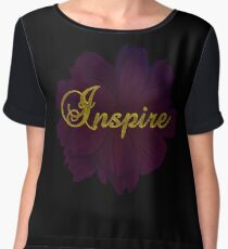 Inspire Inspirational Gold Quote Chiffon Top
