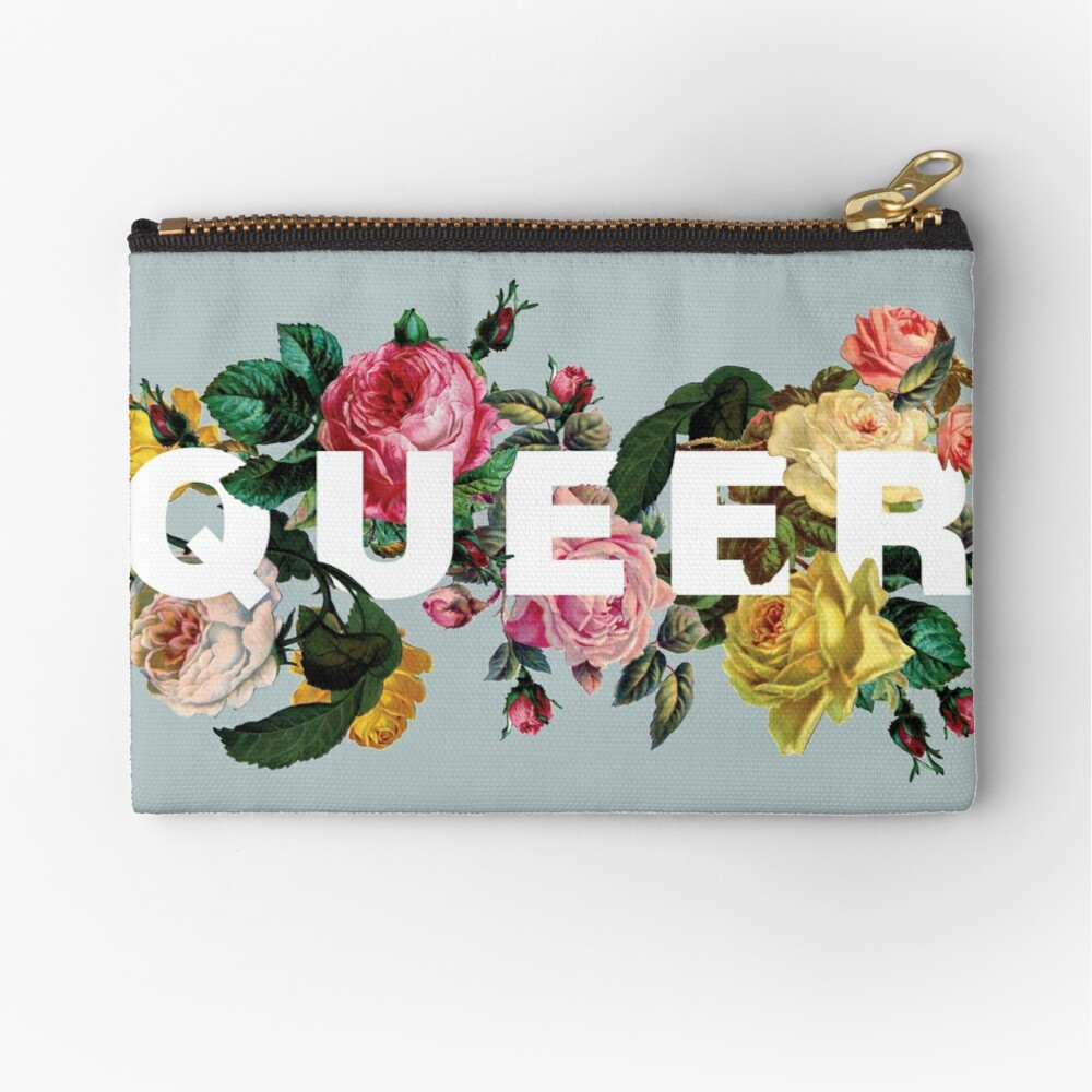 Queer (Antique Roses) Zipper Pouch