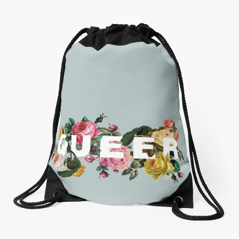 Queer (Antique Roses) Drawstring Bag