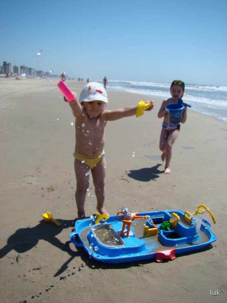 fun at the beach by liak