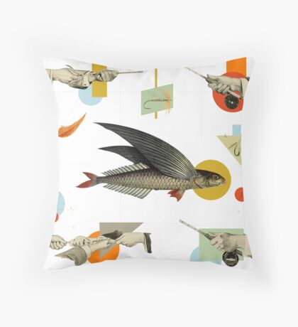 FLY FISH FLY Throw Pillow