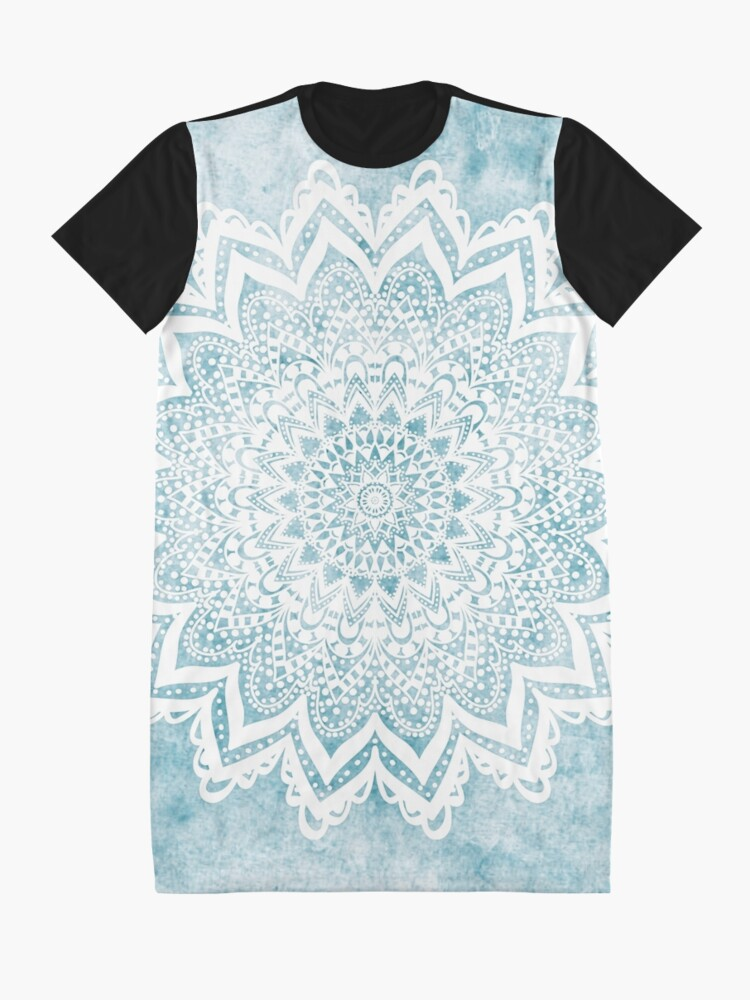 Alternate view of MANDALA SAVANAH LIGHT BLUE Graphic T-Shirt Dress
