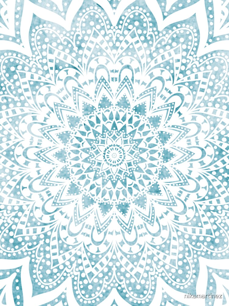 MANDALA SAVANAH LIGHT BLUE by nikamartinez