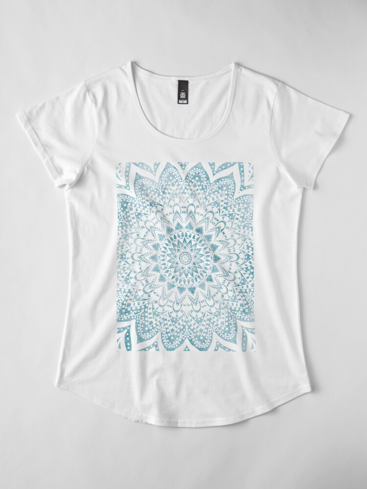 Alternate view of MANDALA SAVANAH LIGHT BLUE Premium Scoop T-Shirt