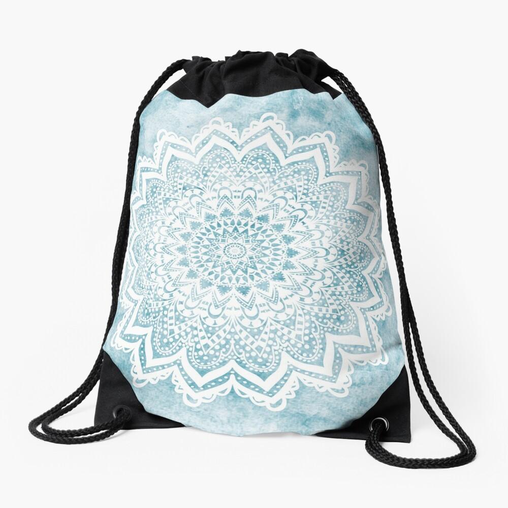 MANDALA SAVANAH LIGHT BLUE Drawstring Bag
