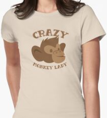Crazy Monkey Lady (New face) T-Shirt