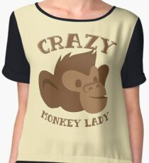 Crazy Monkey Lady (New face) Women's Chiffon Top