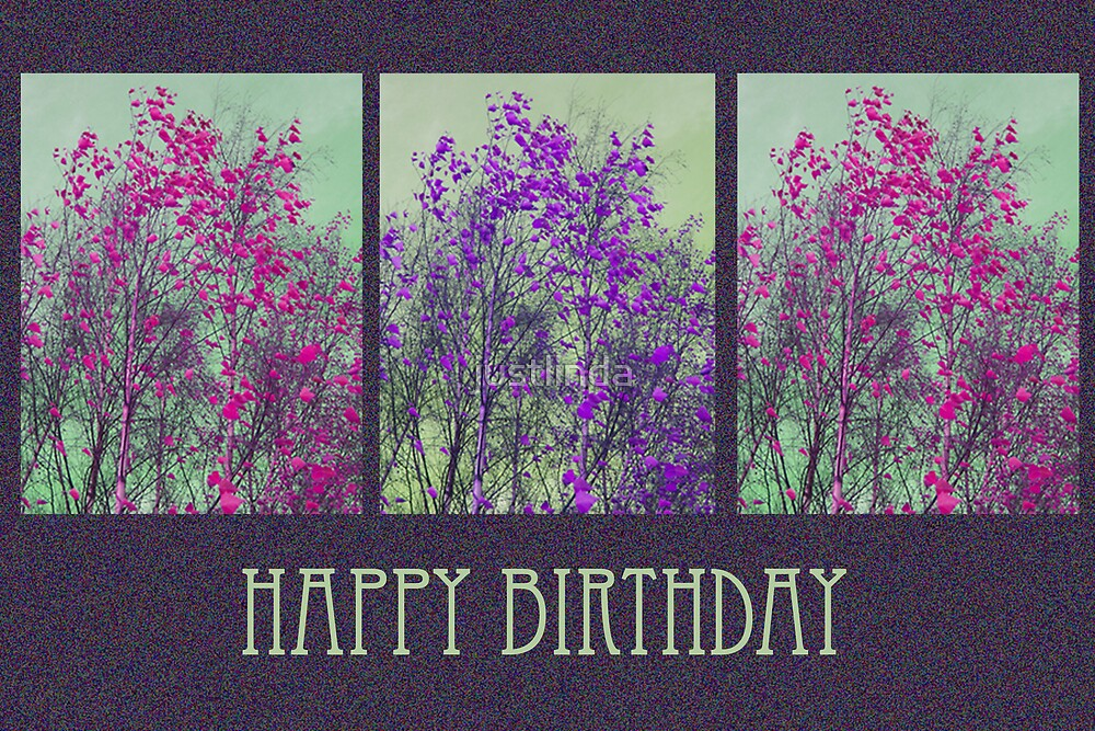 (Birthday Card 5) - Pink 'n' Purple - by justlinda