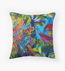 Bright garden. Throw Pillow