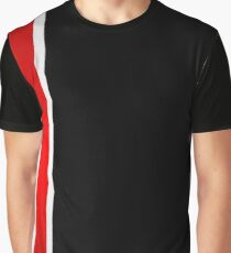 Thin stripe broken Graphic T-Shirt