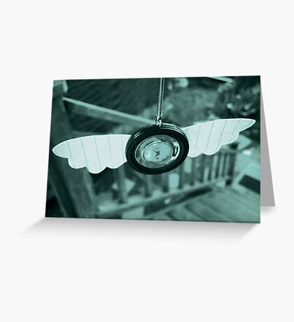 Time Flies With Paper Wings Greeting Card