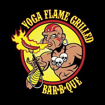 yoga flame grilled BBQ  by nurelcamelia