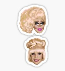Katya & Trixie Floating Heads Sticker