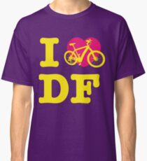 I Love Cycling DF Yellow Pink / Yo Amo andar en Bicicleta en el DF  / Chilango Pride / Orgullo Chilango Classic T-Shirt