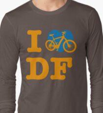I Love Cycling DF Orange Blue / Yo Amo andar en Bicicleta en el DF  / Chilango Pride / Orgullo Chilango Long Sleeve T-Shirt