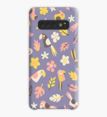 Parrots in the jungle Case/Skin for Samsung Galaxy