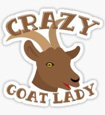 Crazy Goat Lady (new face) Sticker
