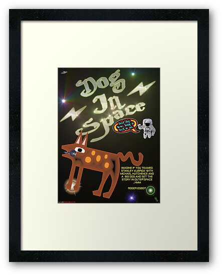 Dog In Space T-shirt Design by muz2142
