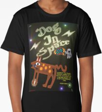 Dog In Space T-shirt Design Long T-Shirt