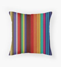 Colorful Mexican Poncho Background Throw Pillow