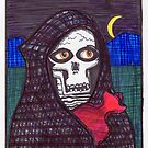 Grim Reaper Feels A Little Chilly April 2017 by Fiona Lokot