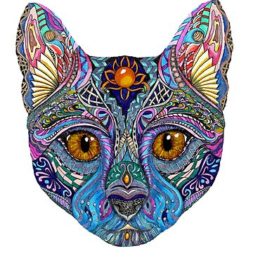 Psychedelic Cat by LindaMcM8