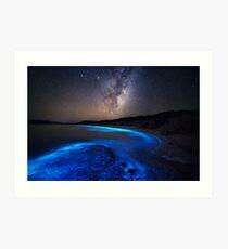 Milky Way Over Sea Sparkle Bay Art Print