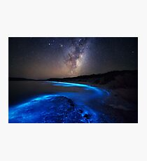 Milky Way Over Sea Sparkle Bay Photographic Print