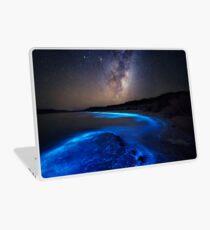 Milky Way Over Sea Sparkle Bay Laptop Skin