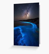 Milky Bioluminescence - 2nd Edition Greeting Card