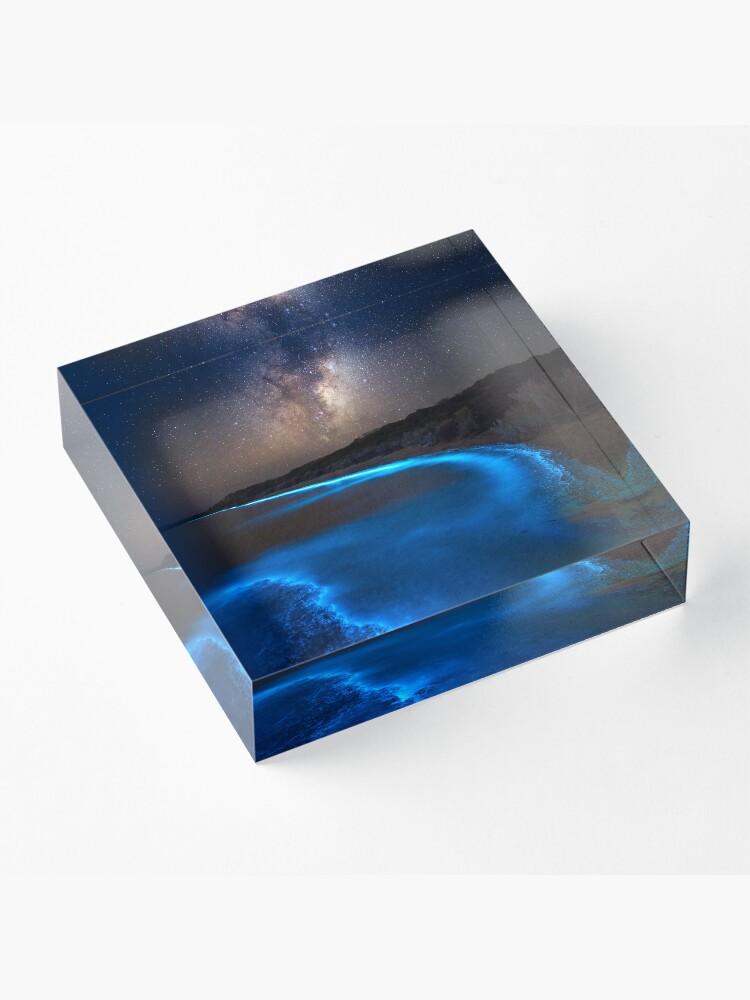 Alternate view of Milky Bioluminescence - 2nd Edition Acrylic Block