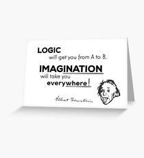 imagination is more important - albert einstein Greeting Card