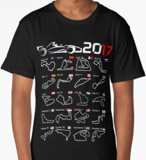 Calendar F1 2017 circuits Long T-Shirt