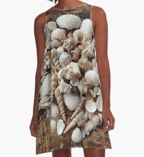 Tropical Sea Shells Photography A-Line Dress
