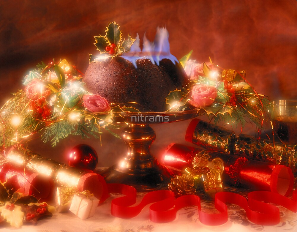 Christmas Pud & flaming brandy by nitrams