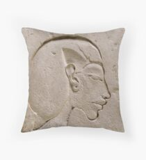Akhenaten Ancient Egyptian relief Throw Pillow