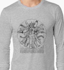 Vitruvian Machine (Black) Long Sleeve T-Shirt