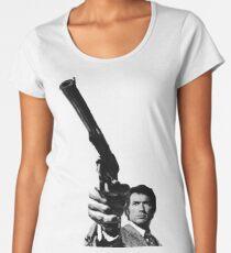 Dirty Harry Pointing a gun Women's Premium T-Shirt